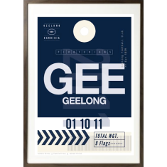 Geelong luggage tag wall art