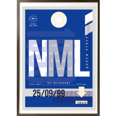 North Melbourne luggage tag wall art