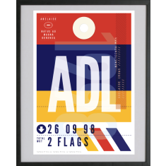 Adelaide Crows luggage tag wall art