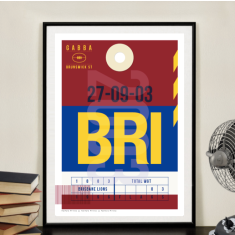 Brisbane Lions luggage tag wall art