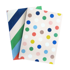 Candy lane spot and stripe notebooks (set of two)