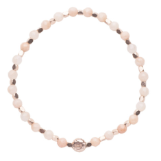 Signature bracelet in cherry quartz