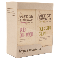Daily face wash + face scrub cream (twin pack)