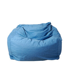 Ottoman/Seated Beanbag in Light Denim