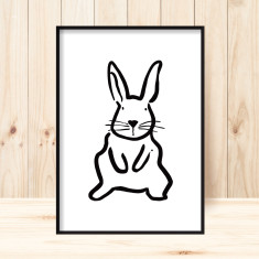 Baby bunny children's art print (more colours)