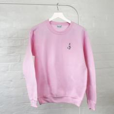 Origami Bunny Embroidered Ladies Jumper Sweatshirt