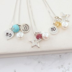 Celebrate 50th Birthday Necklace