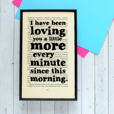 Les Misérables romantic quote print