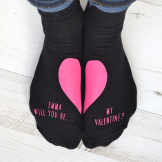Will you be my Valentine Personalised socks?