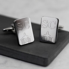 Personalised Initials and Plane Cufflinks