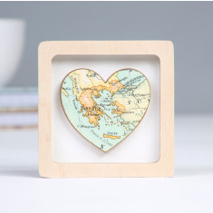 Personalised Miniature Map Heart