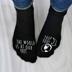 World at Your Feet Personalised Socks