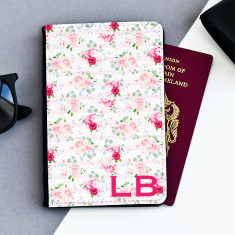 Vintage Rose Personalised Passport Cover