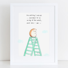 Top of the World Motivational Art Print