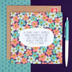 Pretty grateful card