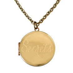 Secrets... engraved vintage locket