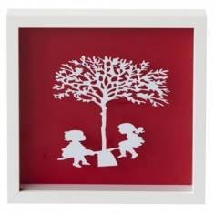 Vintage kids see saw paper cut
