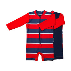 Baby sunsuit for boys in Flinders Redcoat