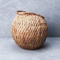 Waterhyacinth cobra basket with handle