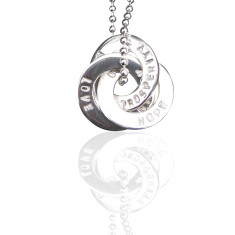 Personalised set of Russian-style looped pendants