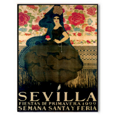 Vintage Sevilla ready to hang canvas print