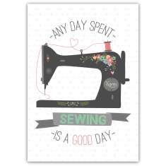 Personalised sewing art print
