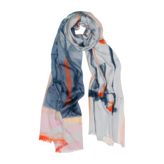 Abstract lines luxe scarf