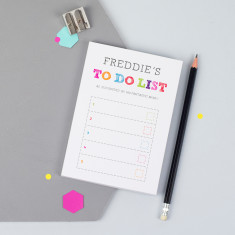 Personalised A6 Colourful To Do List Notepad