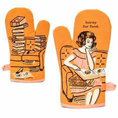 Horny For Food Oven Mitt by Blue Q