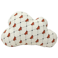 Large cheeky fox cloud cushion
