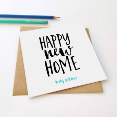 Personalised new home greeting card