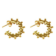 Maya small hoop earrings in 18 kt yellow gold plate