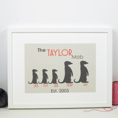 Meerkat Family Personalised Print