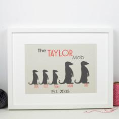 Meerkat Family Personalised Print