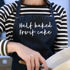 Half Baked Fruit Cake Denim Apron