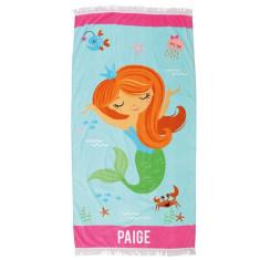 Personalised Beach Towel - Mermaid
