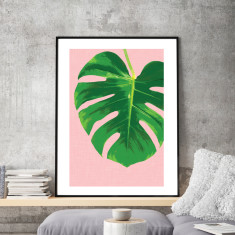 Monstera wonderland art print (various sizes)