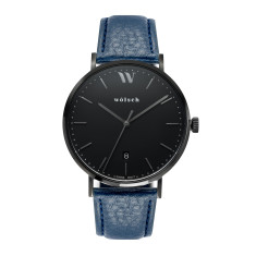 Versa 40 Watch in Black with Blue Band