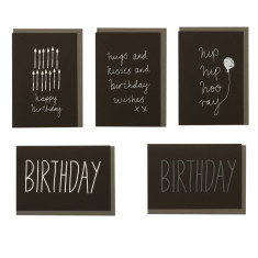 Birthday Greeting Cards (Pack of 5)