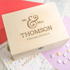 Personalised 'Mr And Mrs' Wedding Keepsake Box
