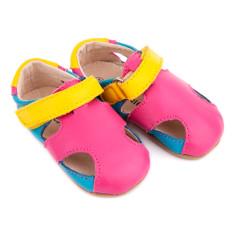 Pre-walker leather Sunday sandals in tutti frutti