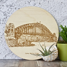 Sydney Harbour Laser Etched Art Panel