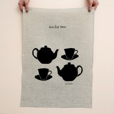 Tea for two tea towel