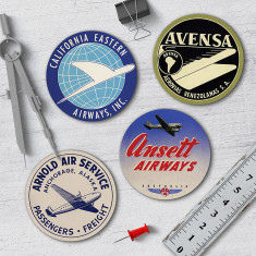 Retro Aviation Coasters (set of 4)