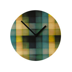 Objectify shaded mosaic wall clock