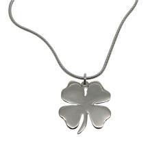 Shamrock sterling silver necklace