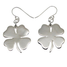 Shamrock sterling silver earrings
