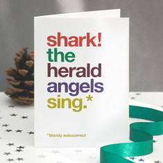 Funny shark autocorrect Christmas card