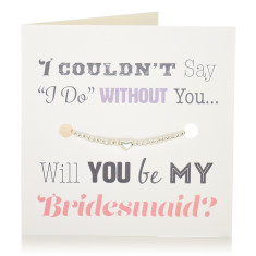 Will you be my bridesmaid bracelet & card set