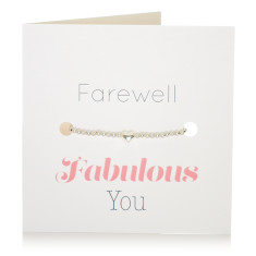 Farewell bracelet & card set